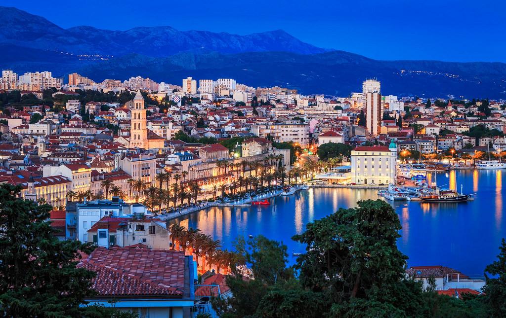 Split, Croatia - Explore Croatia UNESCO sites + meet Bosnia medieval land in 16 days tour. Monterrasol Travel minivan small group tour.