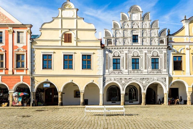 Telč (Telc), Czech Republic - Czech castles and fortresses 22 days tour from Vienna. Small group minivan tour by Monterrasol Travel.