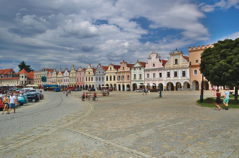 Telč (Telc), Czechia - Czech castles and fortresses 22 days tour from Vienna. Small group minivan tour by Monterrasol Travel.