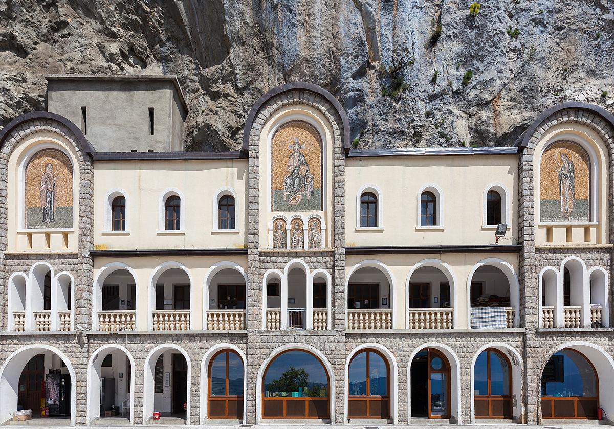 Ostrog, Montenegro - Explore Croatia Bosnia Montenegro Albania Macedonia Greece by cultural tour 26 days. Monterrasol Travel minivan small group tour.