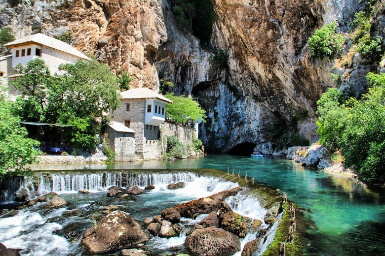 Blagaj, Bosnia and Herzegovina - All seasons 9 days Bosnia discovery non-touristy tour from Mostar. Monterrasol Travel small group tour by car.