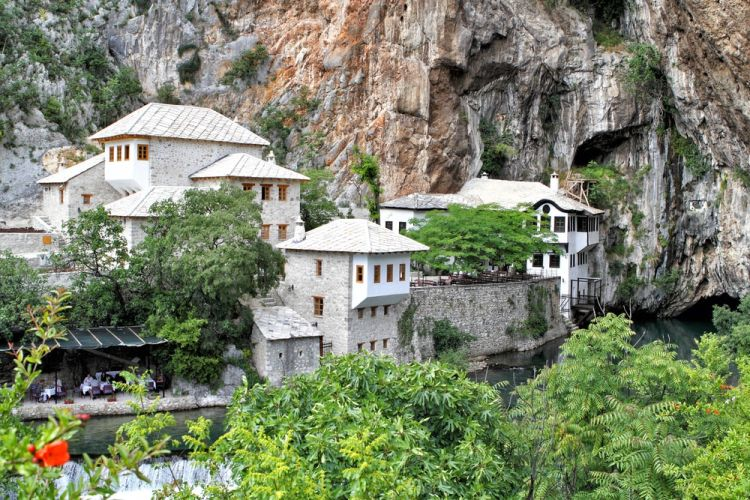 Blagaj, Bosnia and Herzegovina - All seasons 5 days Bosnia discovery tour from Split. Visit old towns and monasteries, cave and fortresses. Walk in Sarajevo, Trebinje, Mostar. Enjoy Bosnia beauty.