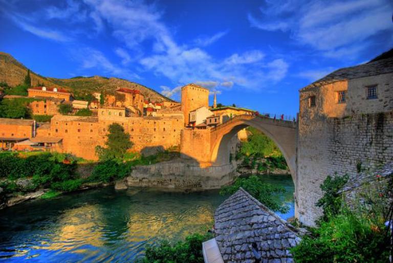 Mostar, Bosnia and Herzegovina - Discover Bosnia Montenegro Macedonia in 14 days tour. Small group tour with minivan by Monterrasol Travel.
