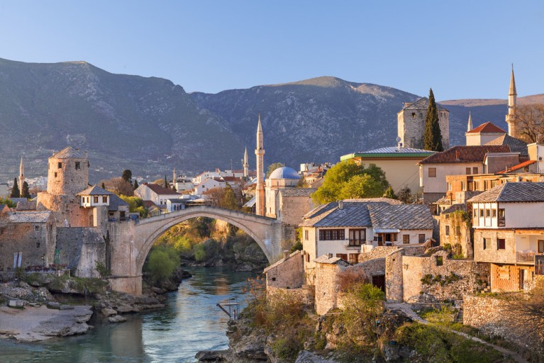 Mostar, Bosnia and Herzegovina - All seasons best of Bosnia 3 days discovery tour from Korcula. Small group minivan tour by Monterrasol Travel.