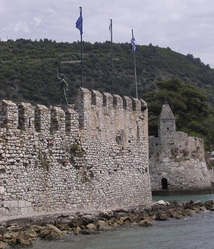 Nafpaktos, Greece - Greece+Albania off-season UNESCO sites tour 22 days from Athens. Monterrasol Travel minivan small group tour.