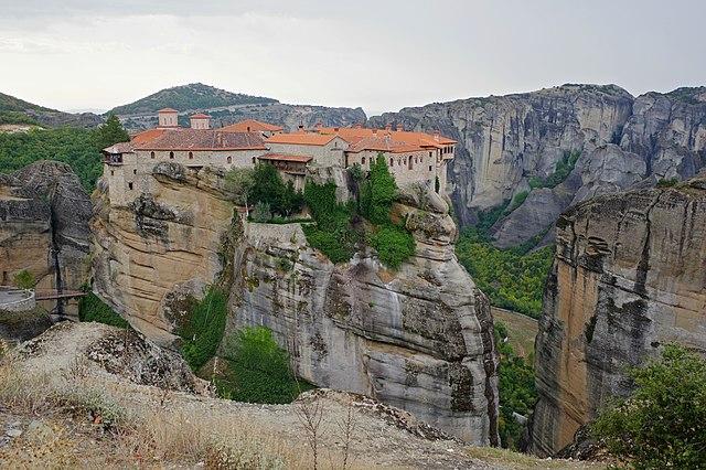 Meteora, Greece - Greece off-season UNESCO places tour 23 days from Athens. Monterrasol Travel small group tour by minivan.