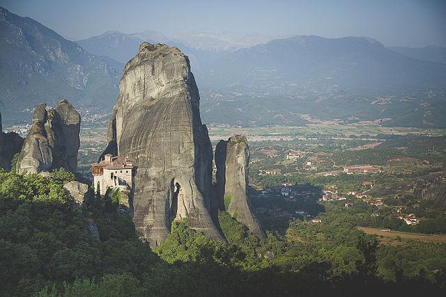 Meteora, Greece - Discover Greece in 11 days tour from Igoumenitsa. UNESCO sites, fortresses, monasteries. Small group tour with minivan from Monterrasol Travel.