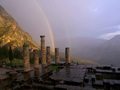 Delphi, Greece - Greece off-season UNESCO places tour 25 days from Athens. Small group tour in minivan from Monterrasol Travel.
