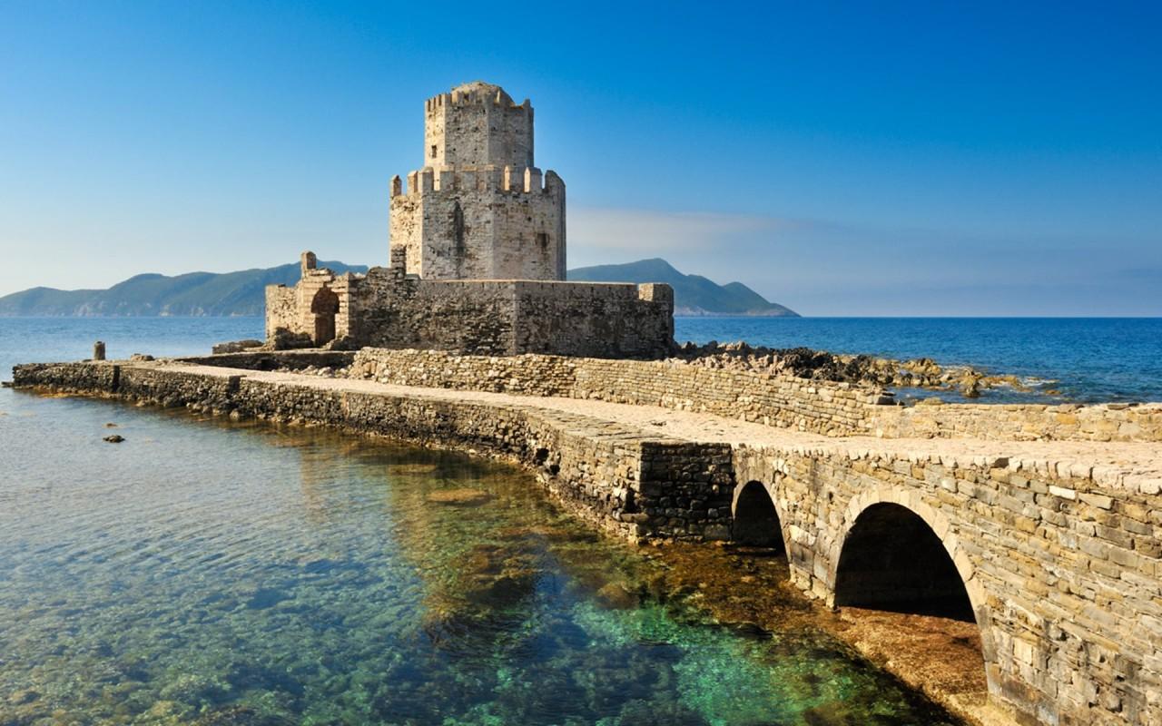 Methoni, Greece - Greece off-season UNESCO places tour 27 days from Athens. Minivan small group tour by Monterrasol Travel.