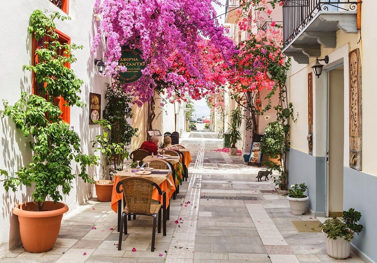 Nafplio, Greece - Greece+Albania off-season UNESCO sites tour 22 days from Athens. Monterrasol Travel minivan small group tour.