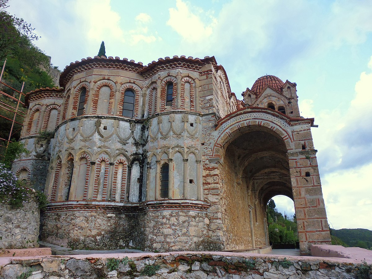 Mystras, Greece - Discover Peloponnese from Athens: Corinth, Sparta, Olimpia, ancient towns, beaches, castles and monasteries. Summer edition.