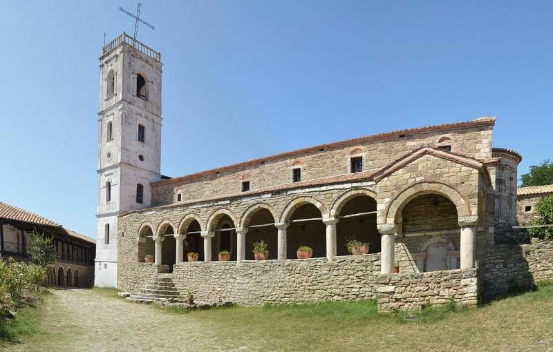 Apollonia, Albania - Greece+Albania off-season UNESCO sites tour 19 days from Igoumenitsa. Monterrasol Travel minivan small group tour.